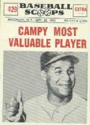 1961 Nu-Card Scoops #429 Roy Campanella