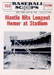 1961 Nu-Card Scoops #450 Mickey Mantle/(Longest homer)