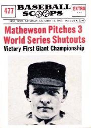 1961 Nu-Card Scoops #477 Christy Mathewson