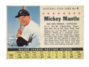1961 Post #4A Mickey Mantle COM