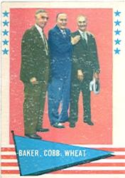 1961 Fleer #1 Frank Baker CL/Ty Cobb/Zack Wheat