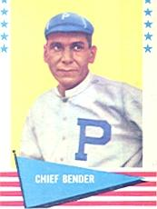 1961 Fleer #8 Chief Bender