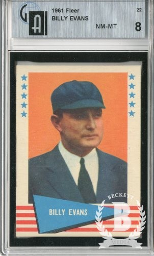 1961 Fleer #22 Billy Evans UMP