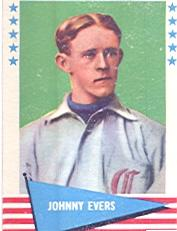 1961 Fleer #23 Johnny Evers front image
