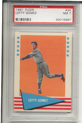1961 Fleer #34 Lefty Gomez
