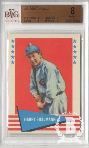 1961 Fleer #42 Harry Heilmann