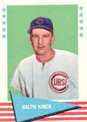1961 Fleer #50 Ralph Kiner