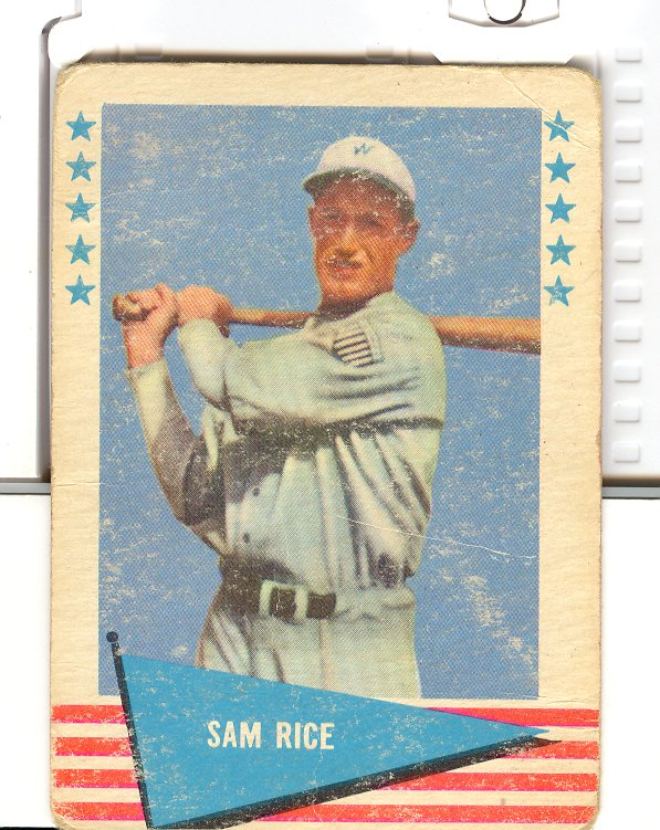 1961 Fleer #70 Sam Rice