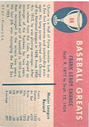 1961 Fleer #98 Frank Chance back image