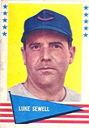 1961 Fleer #138 Luke Sewell
