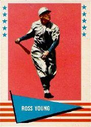 1961 Fleer #154 Ross Youngs
