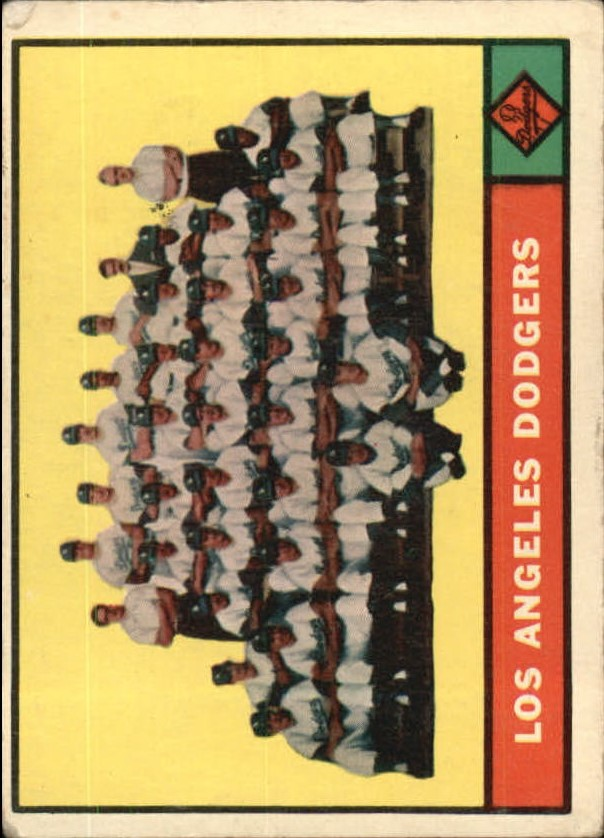 1961 Topps #86 Los Angeles Dodgers TC