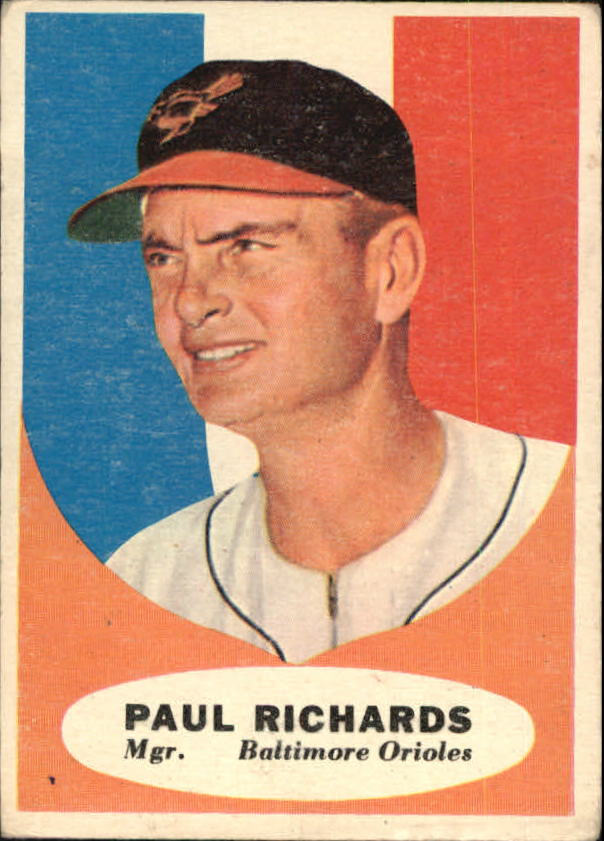 1961 Topps #131 Paul Richards MG