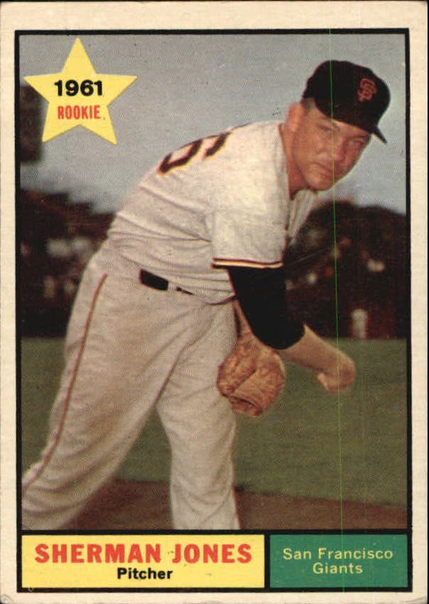 1961 Topps #161 Sherman Jones UER RC/(Photo actually/Eddie Fisher)