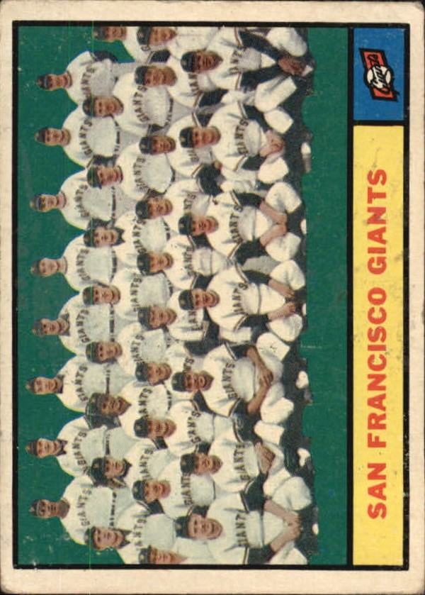 1961 Topps #167 San Francisco Giants TC