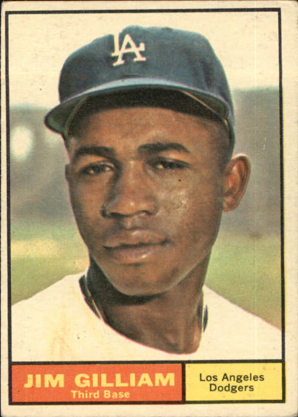 1961 Topps #238 Jim Gilliam front image