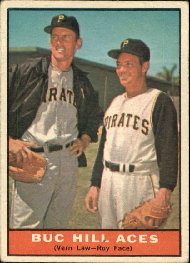 1961 Topps #250 Buc Hill Aces/Vern Law/Roy Face