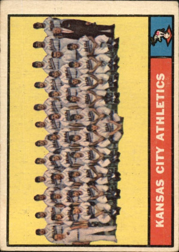 1961 Topps #297 Kansas City Athletics TC