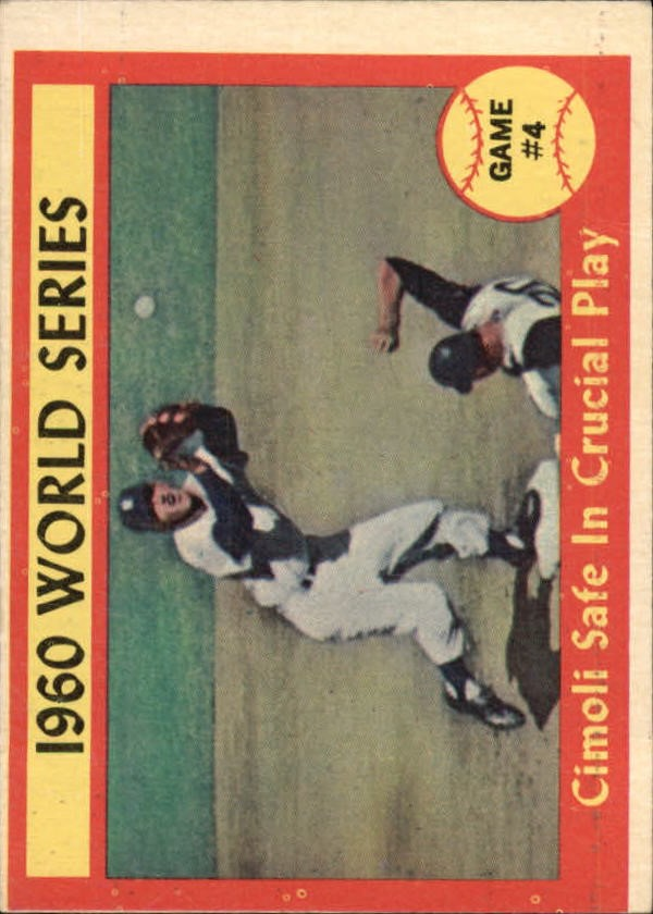1961 Topps #309 World Series Game 4/Gino Cimoli