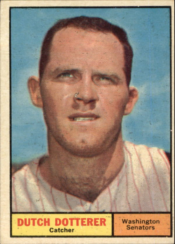1961 Topps #332 Dutch Dotterer UER/(Photo actually/Tommy Dottere front image
