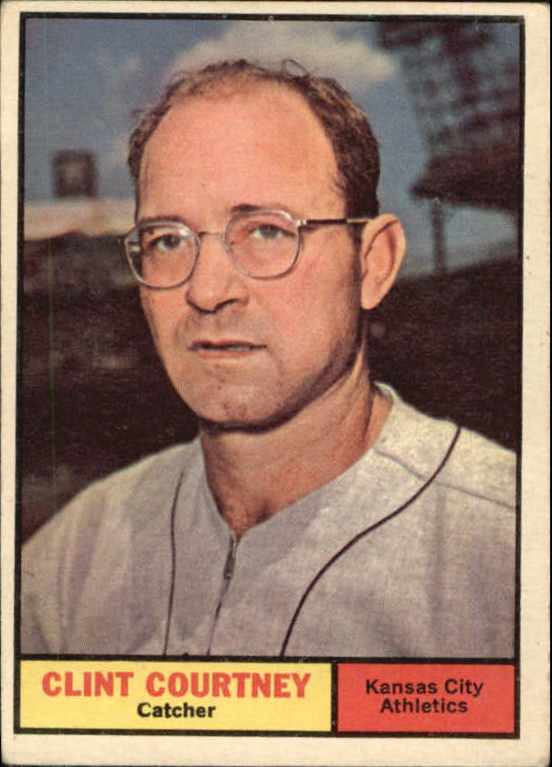 1961 Topps #342 Clint Courtney front image