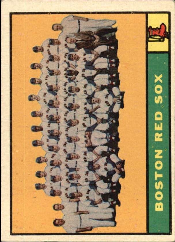 1961 Topps #373 Boston Red Sox TC front image