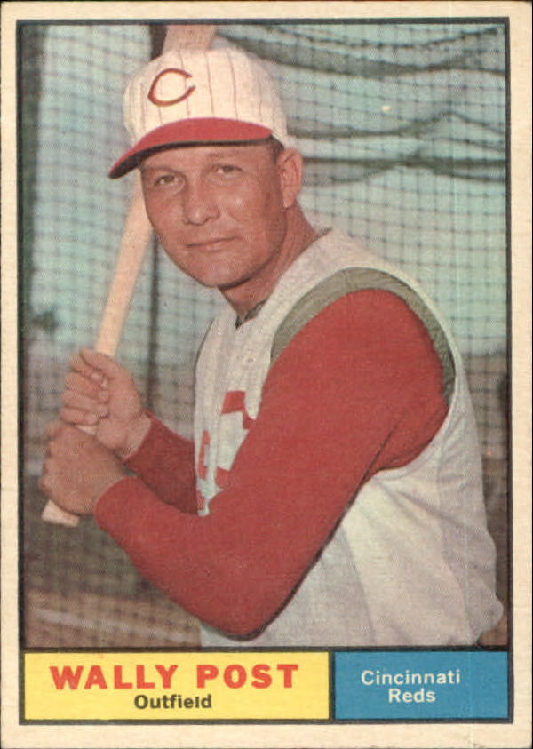 1961 Topps #378 Wally Post front image