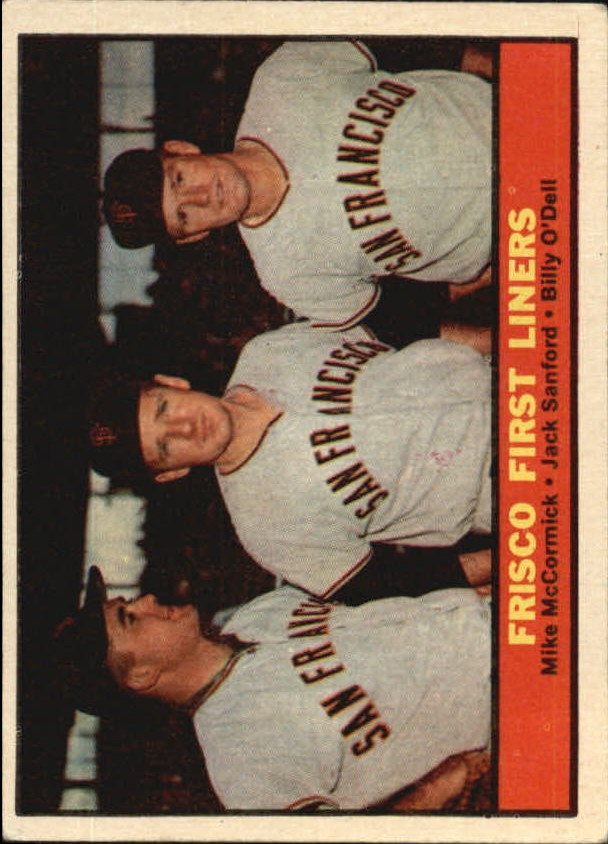 1961 Topps #383 Frisco First Liners/Mike McCormick/Jack Sanford/Billy O'Dell