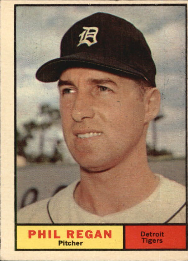 1961 Topps #439 Phil Regan RC