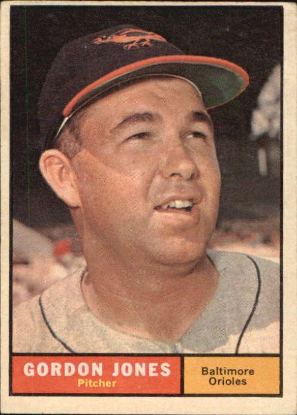 1961 Topps #442 Gordon Jones