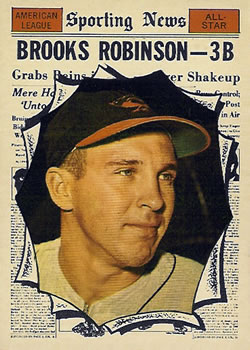 1961 Topps #572 Brooks Robinson AS