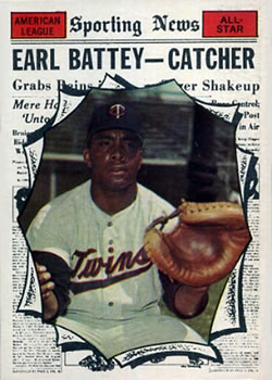 1961 Topps #582 Earl Battey AS
