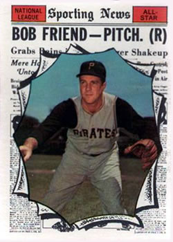 1961 Topps #585 Bob Friend AS