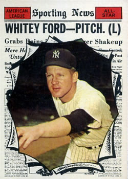 1961 Topps #586 Whitey Ford AS