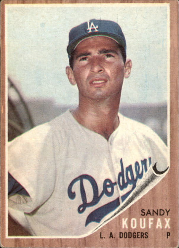 1962 Topps #5 Sandy Koufax UER/Struck out 18