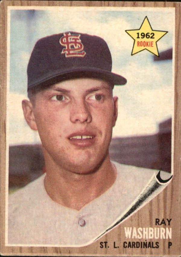 1962 Topps #19 Ray Washburn RC