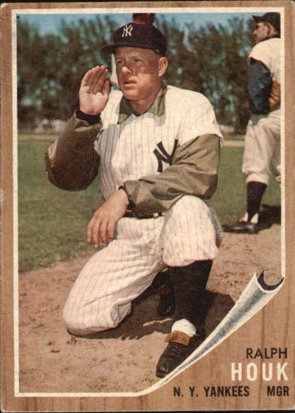 1962 Topps #88 Ralph Houk MG/Berra in background