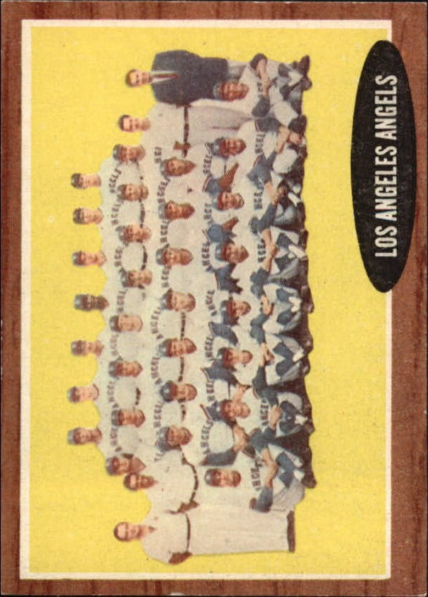 1962 Topps #132B Los Angeles Angels TC (With Inset Photos)