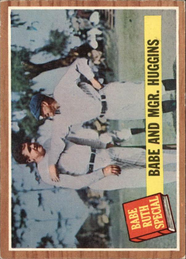 1962 Topps #137 Babe Ruth Special 3/Babe with Mgr. Huggins