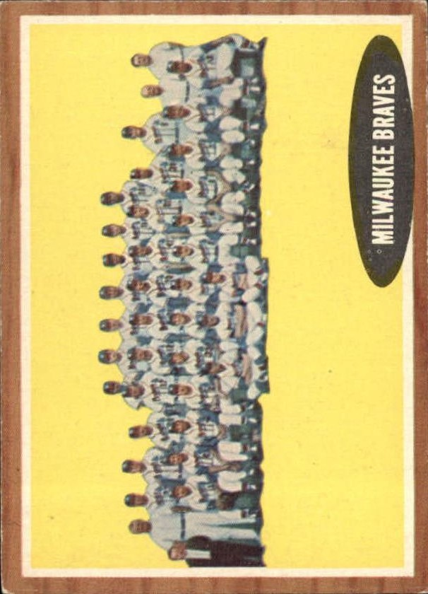 1962 Topps #158 Milwaukee Braves TC