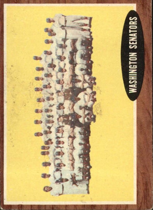 1962 Topps #206 Washington Senators TC