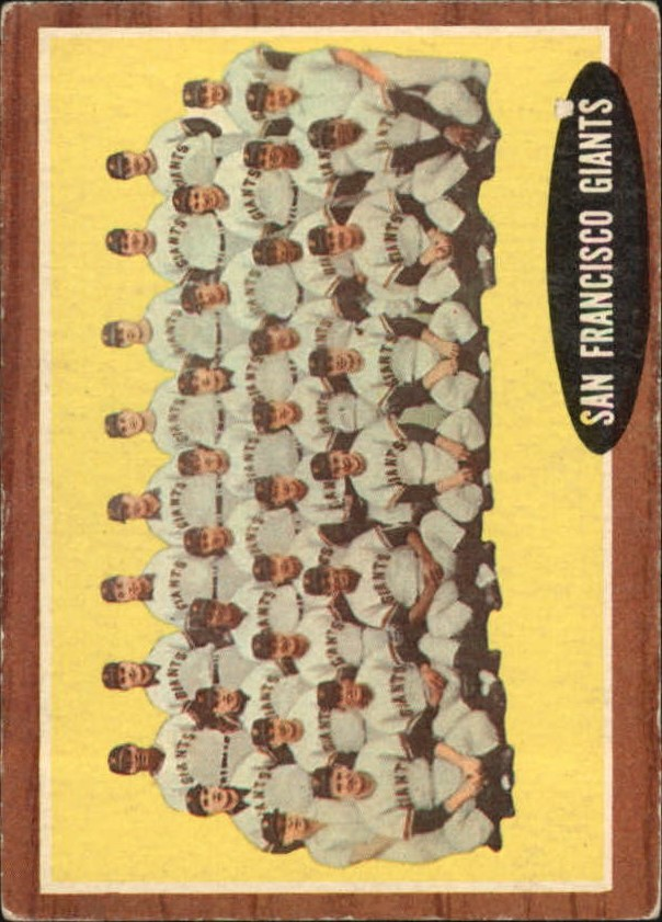 1962 Topps #226 San Francisco Giants TC