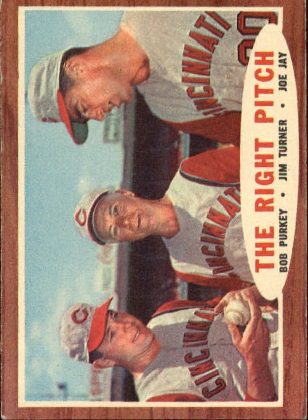 1962 Topps #263 The Right Pitch/Bob Purkey/Jim Turner CO/Joe Jay
