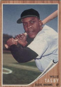 1962 Topps #462B Willie Tasby Plain Cap