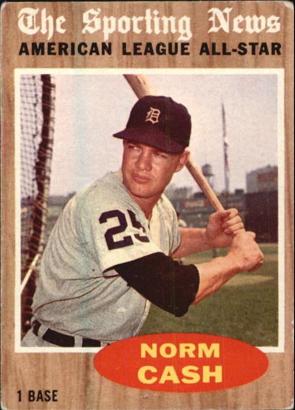 1962 Topps #466 Norm Cash AS