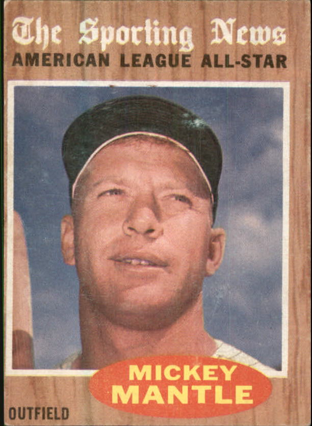 1962 Topps #471 Mickey Mantle AS