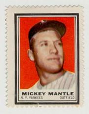 1962 Topps Stamps #88 Mickey Mantle