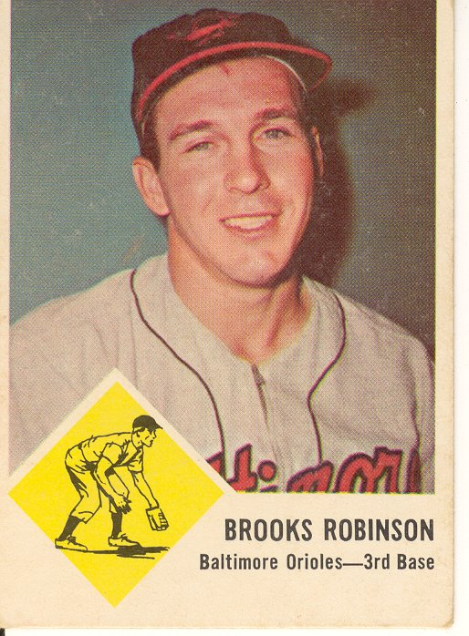 1963 Fleer #4 Brooks Robinson front image