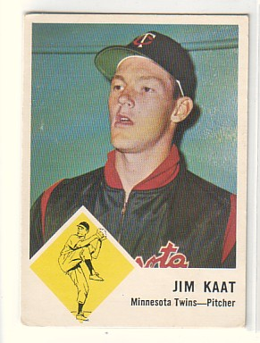 1963 Fleer #22 Jim Kaat