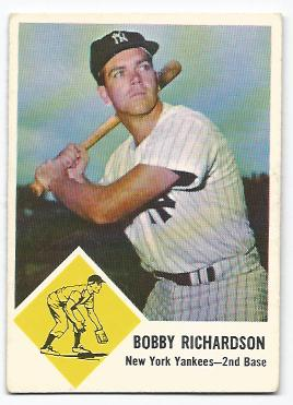 1963 Fleer #25 Bobby Richardson